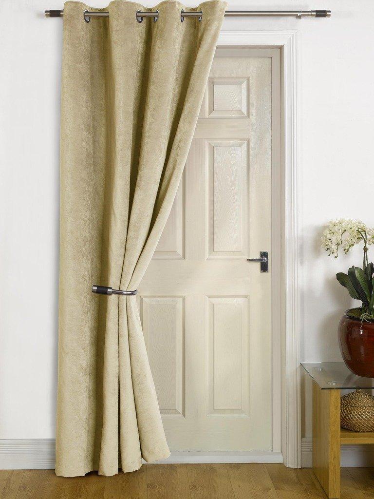 Front door eyelet curtain functionalities thermal front door curtains choice image doors design ideas rubansaba