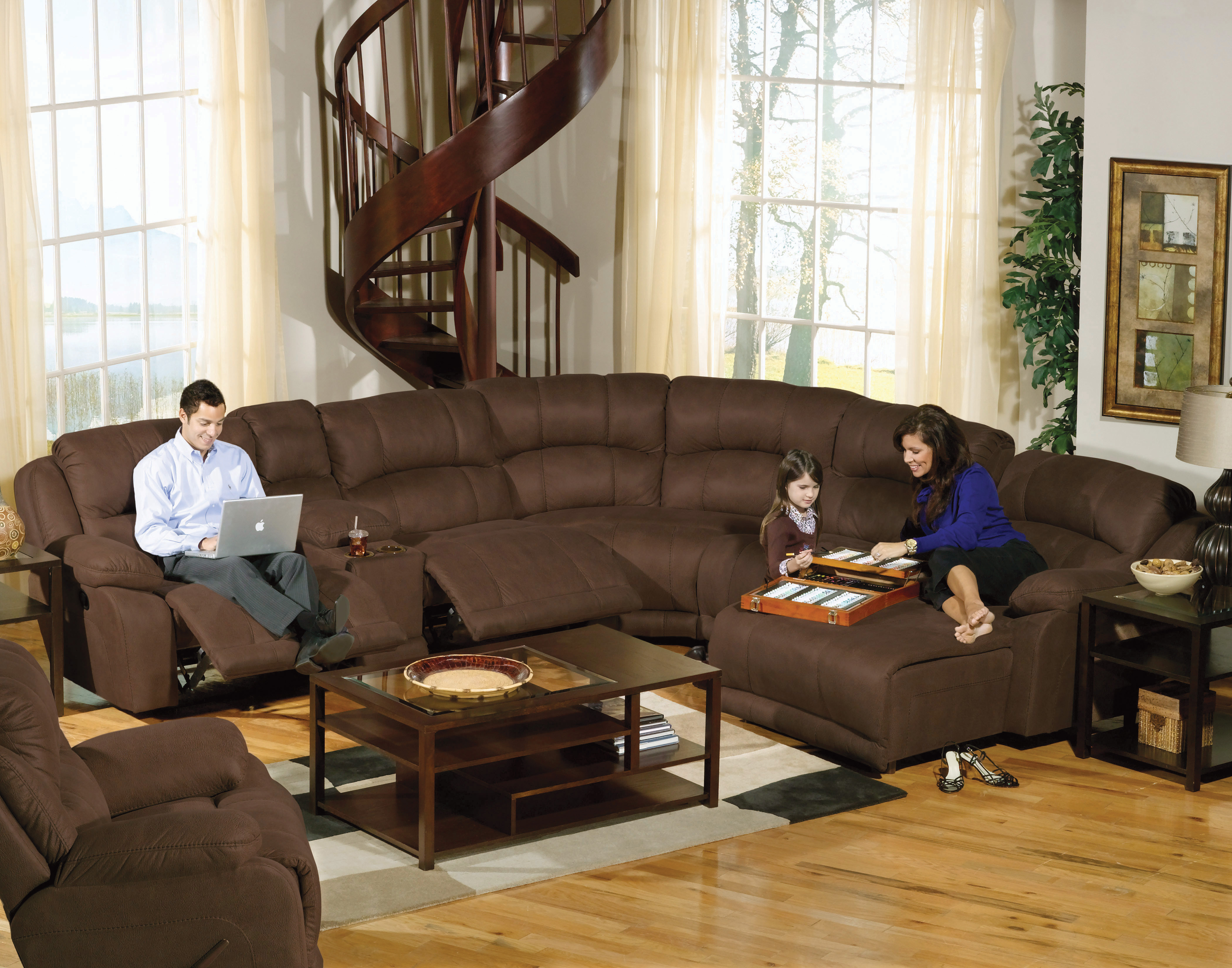 Buy large sectional sofas perfect for your large living room  darbylanefurniturecom