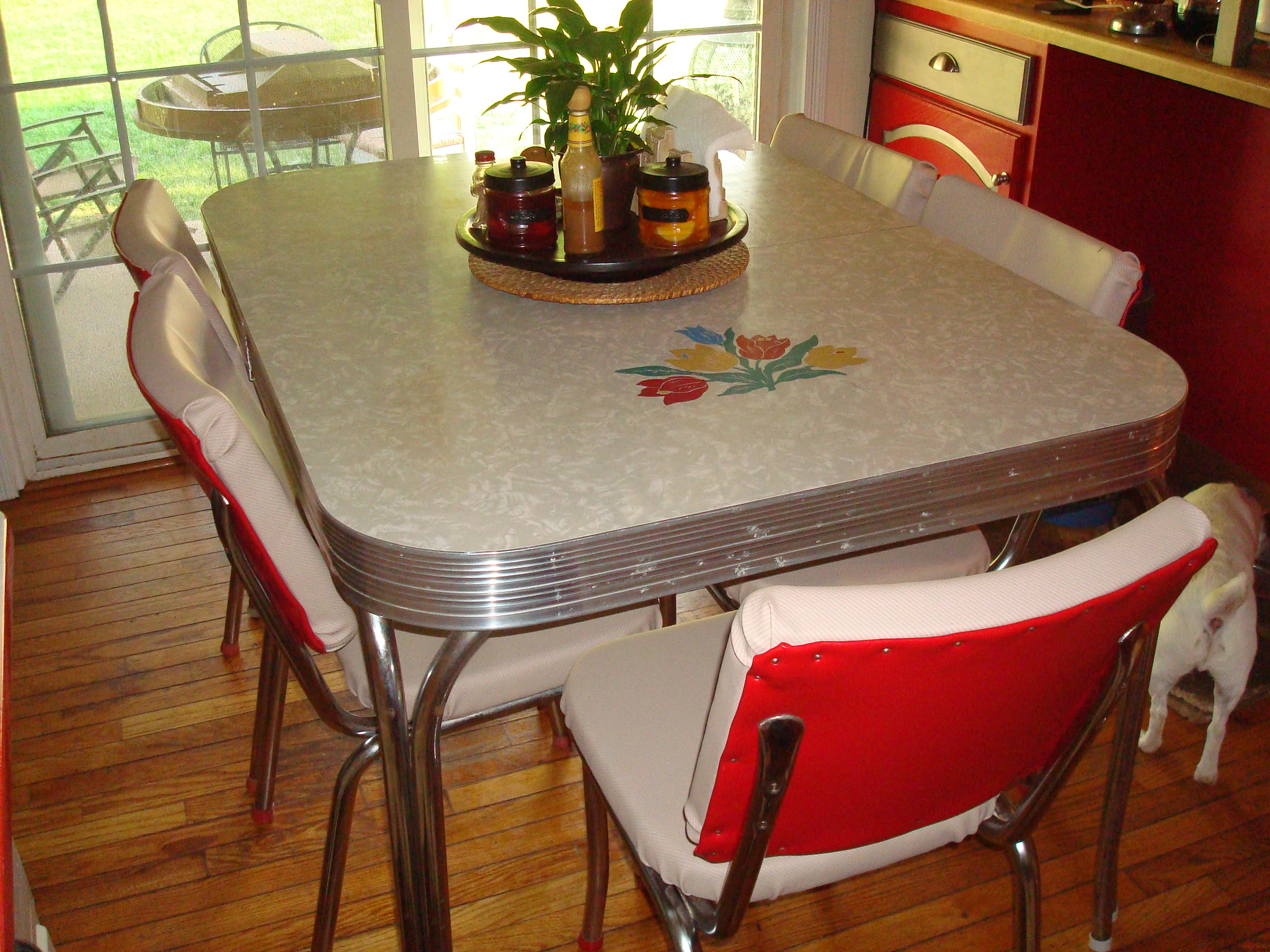 red retro kitchen chairs adirondack sale transform your into a