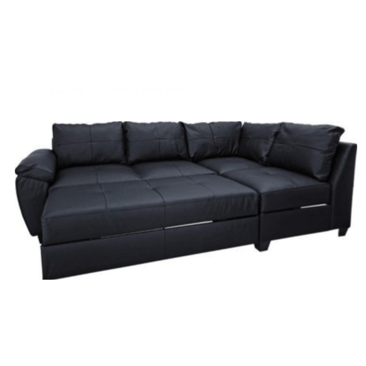 olympus black leather corner sofa bed with storage mainstay sleeper decorate your home