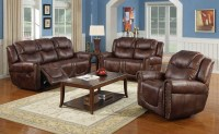 Reclining Sofa Sets Leather Contour Espresso Brown ...