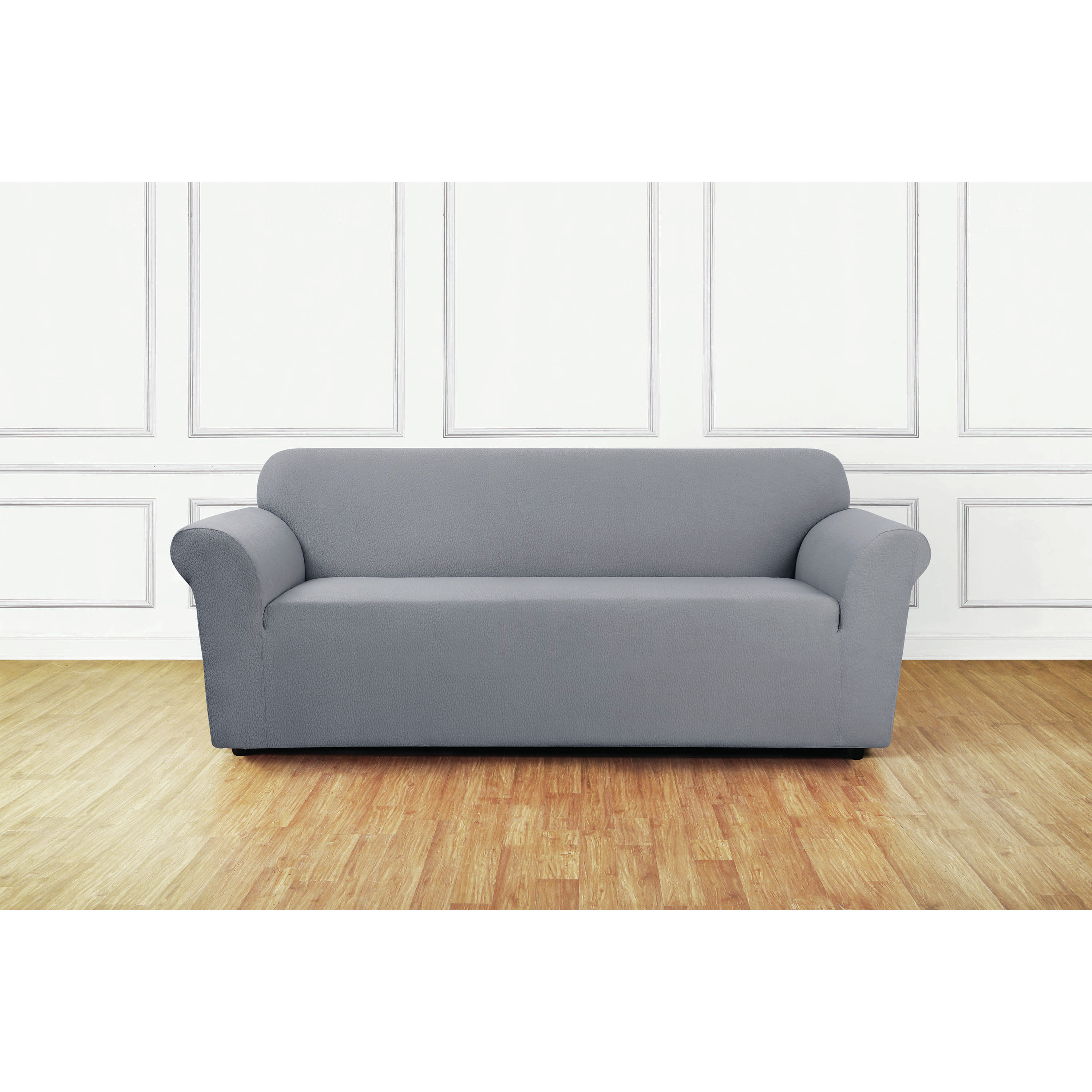 sure fit stretch metro 1 piece sofa slipcover gray reclining leather reviews slipcovers for surefit