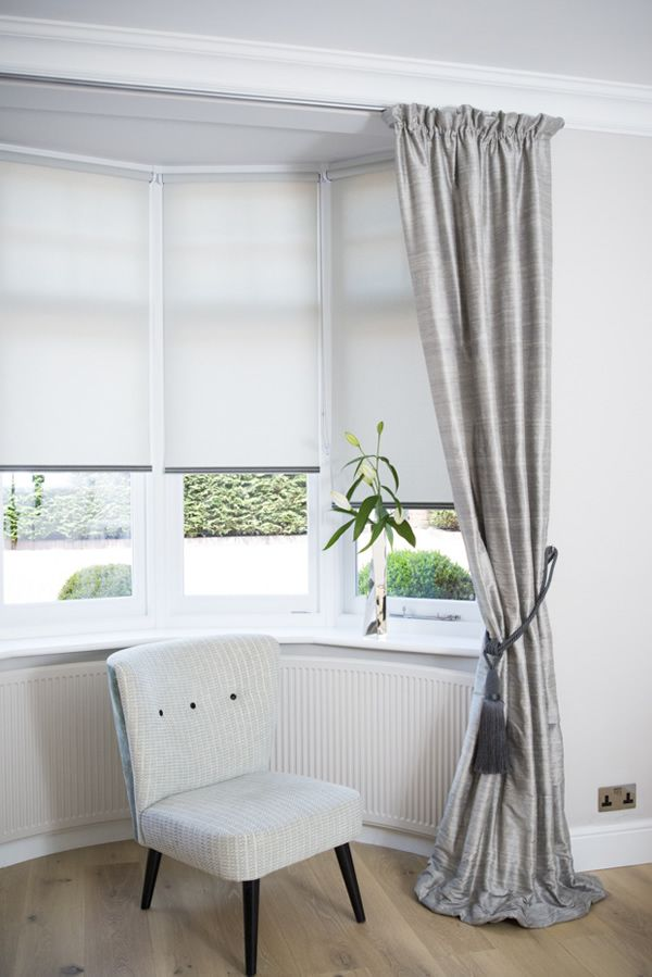 simple and stylish bay window curtains com