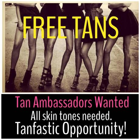 Are you interested in becoming a Spray Tan Ambassador?