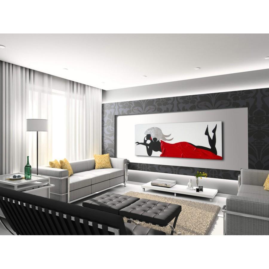 Pittura testurizzata, bianco e nero, dipinti d'arte moderna, arte astratta,. Quadro Dipinto A Mano Glamour 425