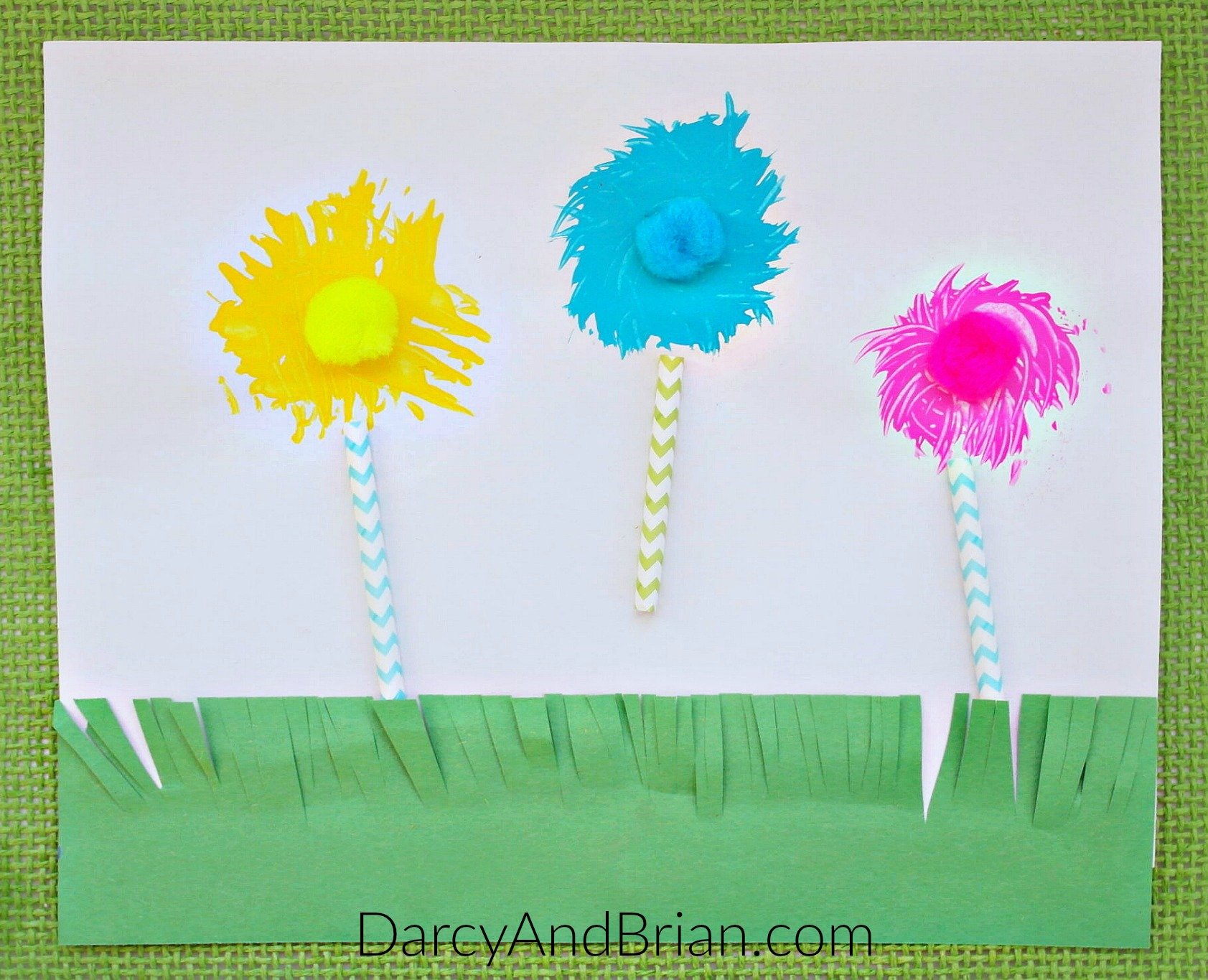 Dr Seuss Craft Truffula Trees Fork Painting Life With
