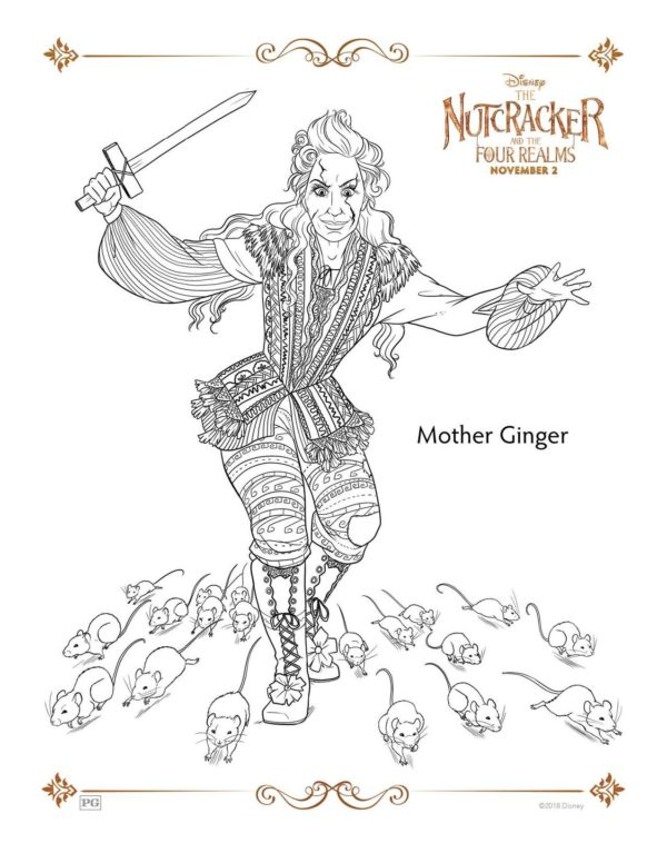 The Nutcracker and the Four Realms Printable Coloring Pages