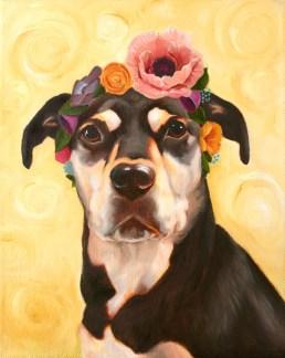 """Luna Kahlo Oil on Canvas 8 x 10"""" 2014"""