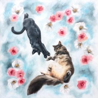 Elbee & Poohkins Cat Portrait by Darcy Goedecke