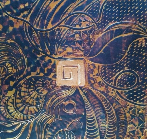 Wall art by Darcy Meeker, Quilt square