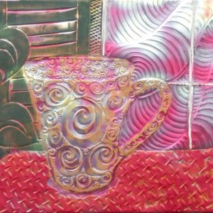 Wall Art - Red Table, Coffee cup series