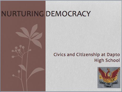 Nurturing Democracy