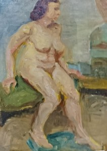 Nude Study by Edith F Morgan