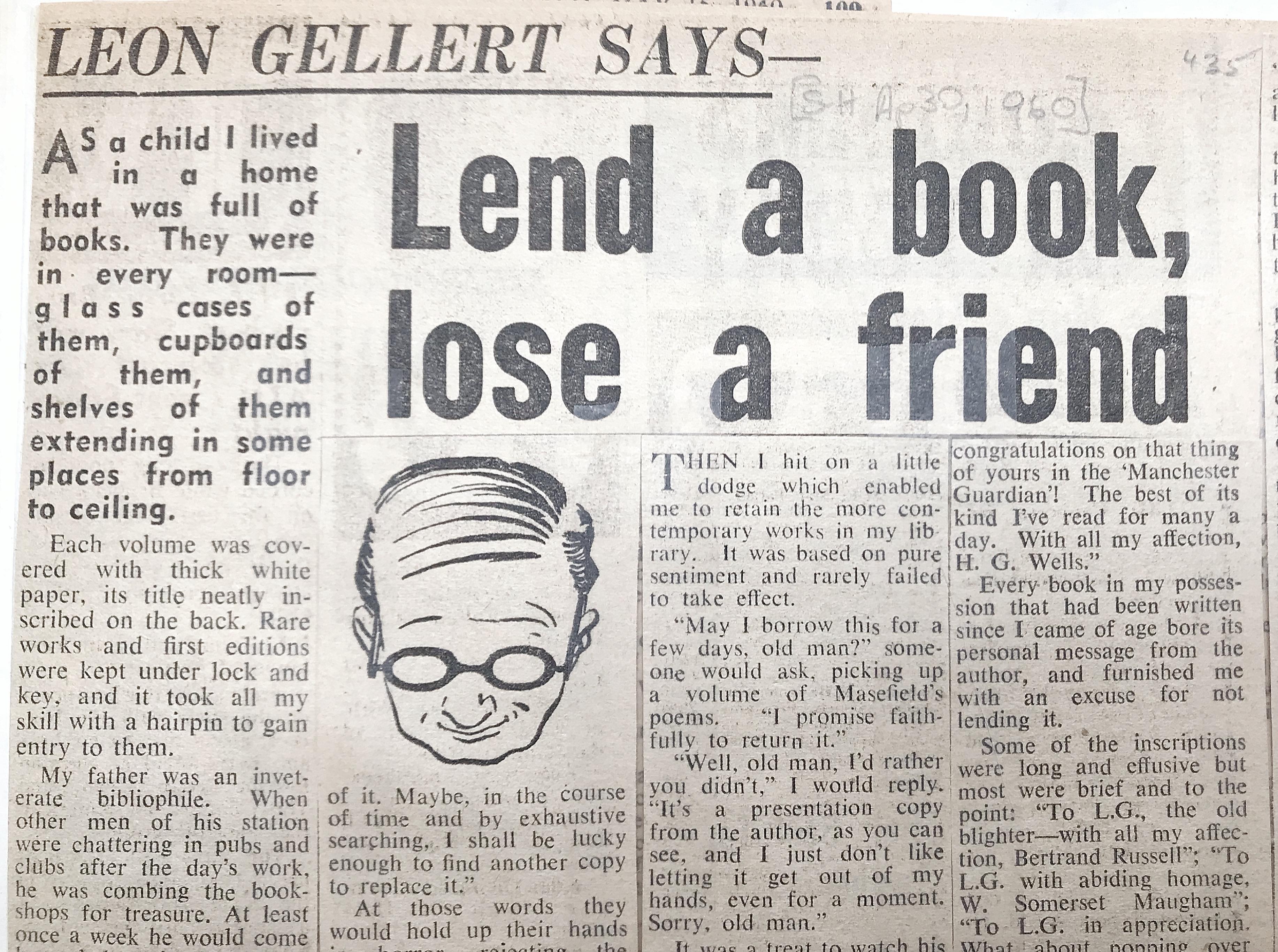 Lend a book