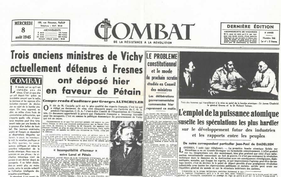 Combat edited by Albert Camus
