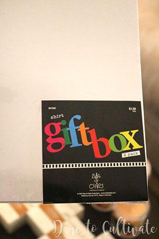 Shirt Gift Box DIY Bridesmaid Box