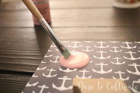 Painting Wooden Initial DIY Bridesmaid Box
