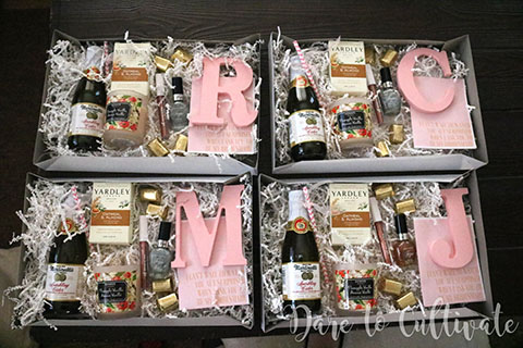 Bridesmaid Boxes completely finished.