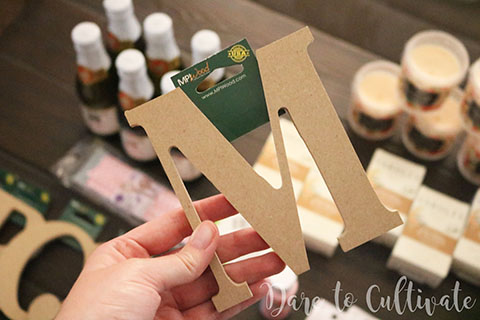 Initial Letter for DIY Bridesmaid Box.