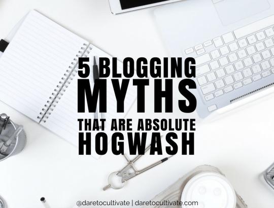 5 Blogging Myths