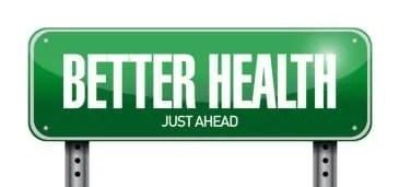 better health road sign illustration design