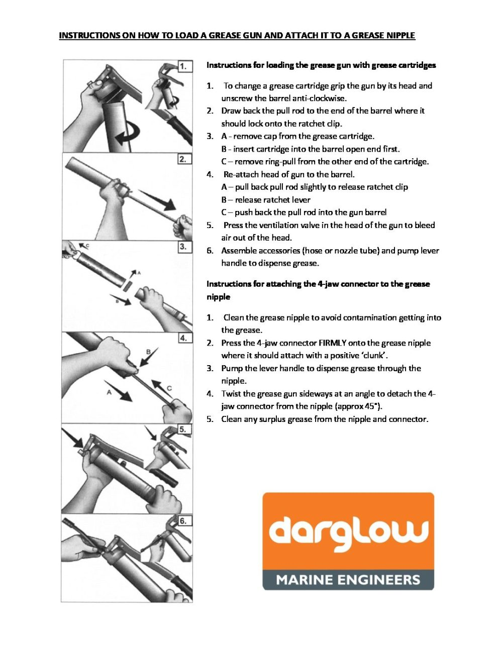 medium resolution of instructions for loading the grease gun