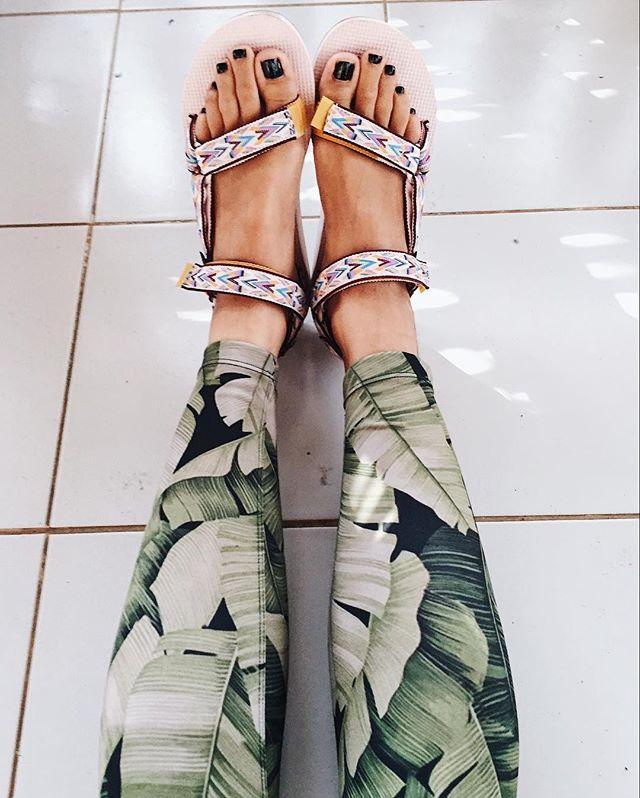 Rugu Active Banana Leaf Yoga Leggings