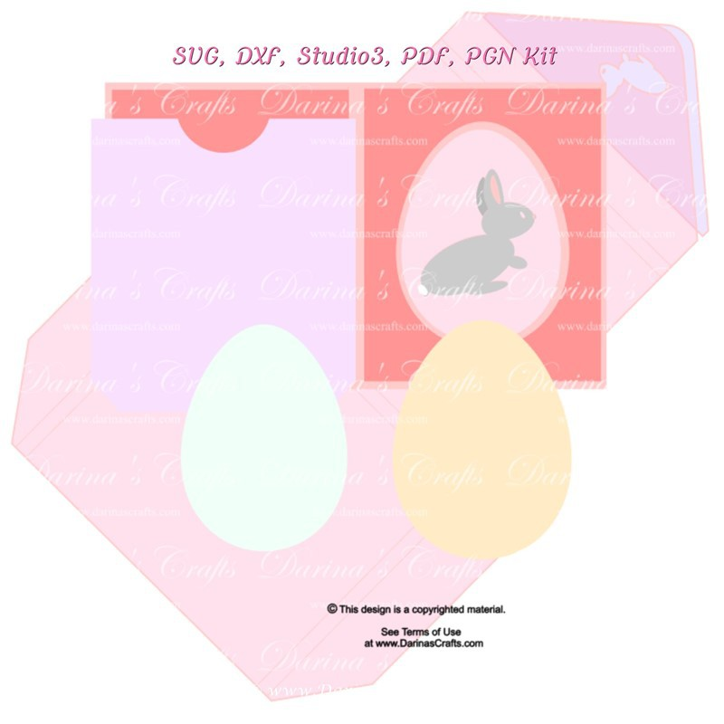 Easter Bunny Card SVG Kits And Gifts