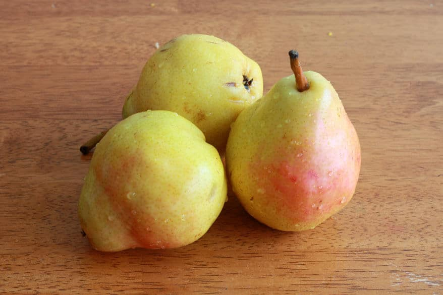 Pear Upside Down Cake prep 4