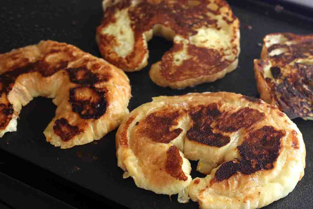 Orange Croissant French Toast prep 5