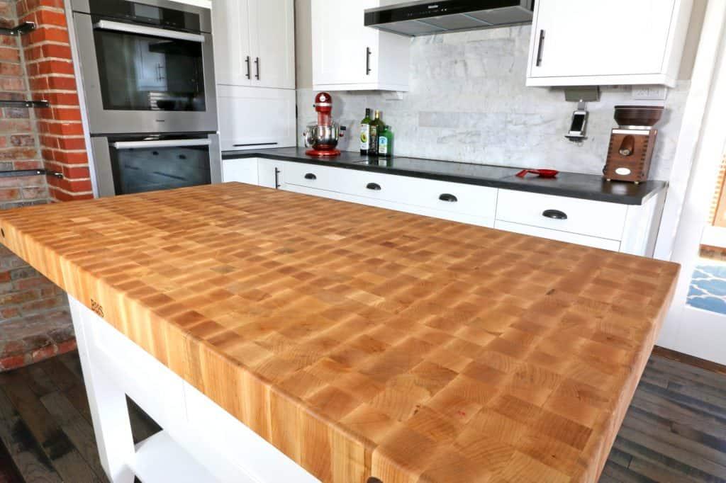 john boos kitchen island counter organizer the 1912 modern farmhouse remodel our butcher block review table