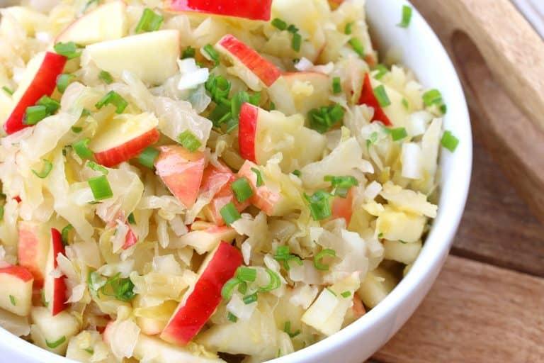 sauerkraut salad recipe apples german vinegar onions gluten free vegetarian vegan