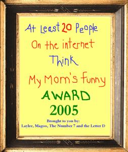 award framed