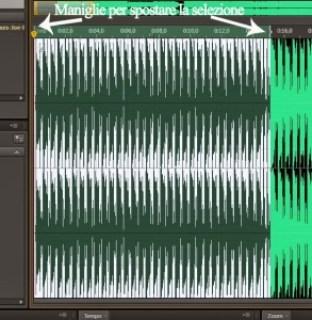 tagliare una canzone per il telefonino con audition