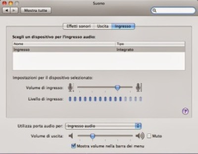 Preferenze audio per macbook pro e air