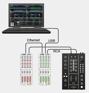 collegamento link con hardware con scheda audio integrata