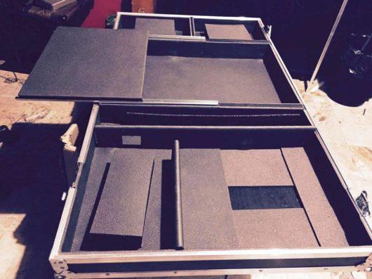 flight case dj alloggio notebook
