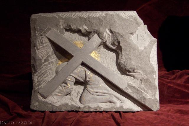 IX-Jesus falls the third time, 16.15x12.61x4 in