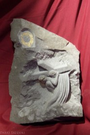 V-Jesus is helped by Simon of Cyrene, 21x15x3.5in