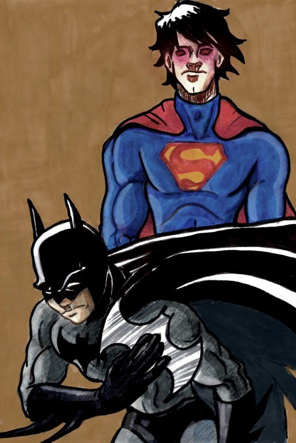 illustration batman vs superman