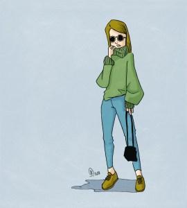 illustration jeune femme