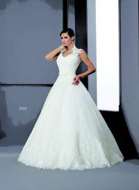 Silk Queen Anne Collar Bridal Gowns - Darius Cordell ...