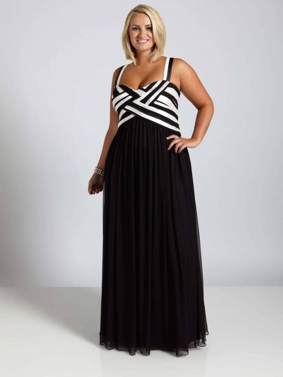 Black and White Plus Size Semi Formal Dresses - Darius ...