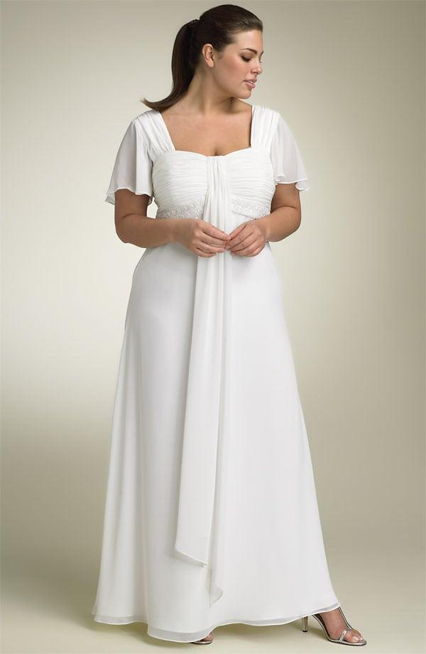 Plus Size Wedding Dresses with Flutter Sleeves from Darius Bridal