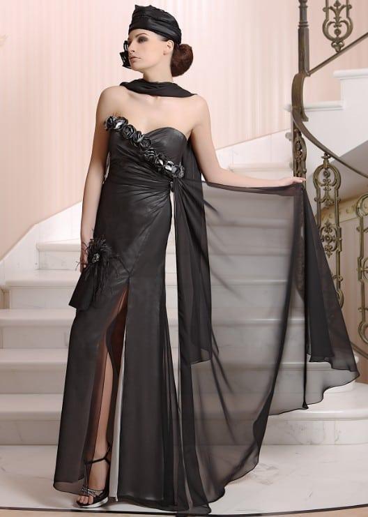 Avondjurken Le Couture.Black Designer Evening Gowns Darius Cordell Fashion Ltd