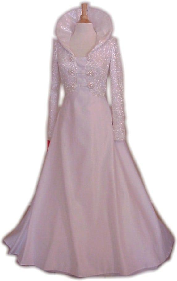 Queen Anne Collar Ball Gown Wedding Dresses