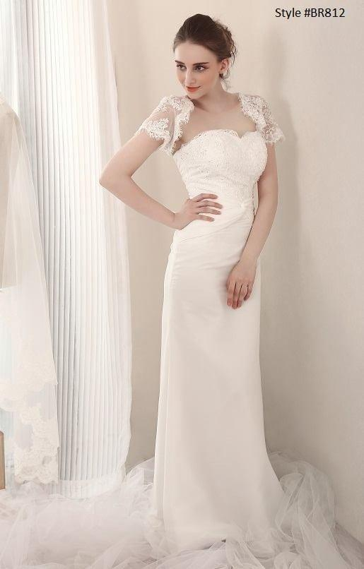 d8408912a3f Style FBR812 – Bridal Gowns w Shrug Jackets. Darius Cordell Fashion Ltd  offers inexpensive sheath ...