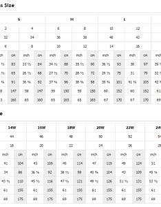 Size chart for special occasion dresses also designer gowns  darius cordell rh dariuscordell
