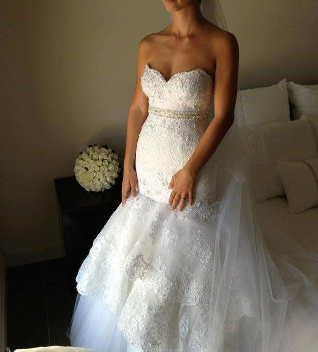 Real Brides Fit And Flare: Fit-n-Flare Lace Wedding Dress From Darius Bridal