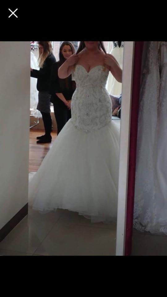 plus size fit-and-flare wedding gown from Darius Bridal